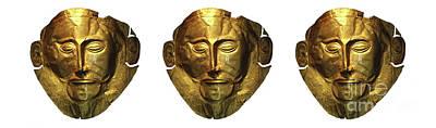 Mask Of Agamemnon 3 Art Print