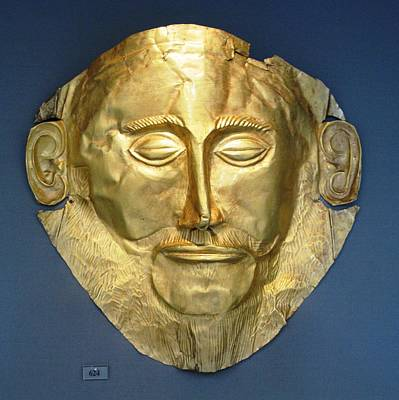 Bronze Mask Photograph - Mask Of Agamemnon by Andonis Katanos