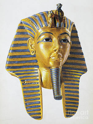 Carter Photograph - Mask Of The Egyptian Pharaoh Tutankhamen by Egyptian School
