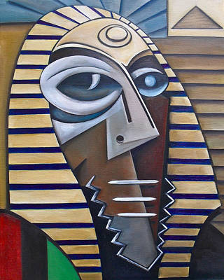 Wall Art - Painting - Mask Of The Enigmatic by Martel Chapman