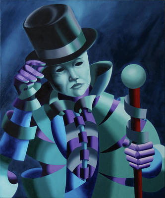Mask Of The Magician - Abstract Oil Painting Print by Mark Webster