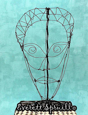 Mask Of Wire Art Print