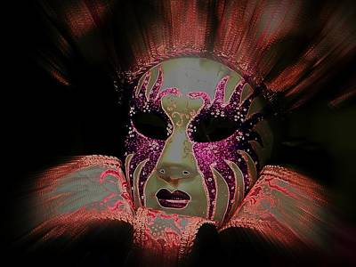 Jester Digital Art - Mask On Fire by Amanda Eberly-Kudamik