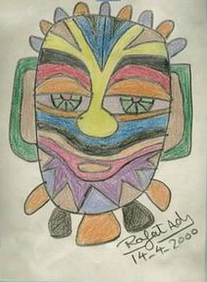 Abstract Forms Drawing - Mask by Rafat Ads
