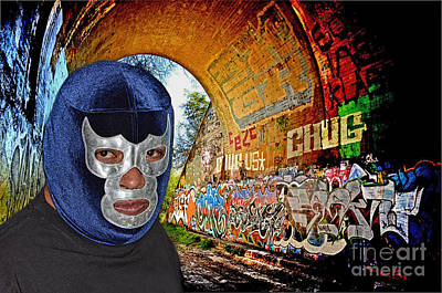 Photograph - Masked Luchador In His Hideout   by Jim Fitzpatrick