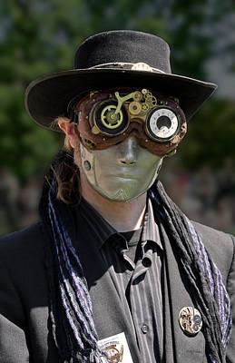 Masked Man - Steampunk Art Print by Betty Denise