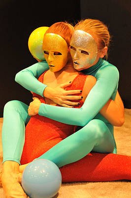 Photograph - Masked Models No 1 by Mike Martin