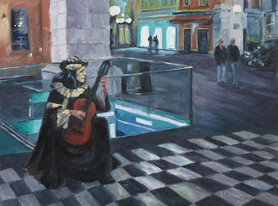 Painting - Masked Musician by Connie Schaertl
