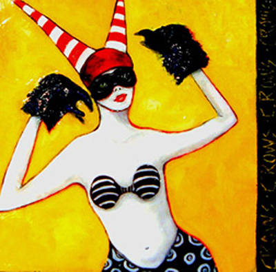 Hargrove Painting - Masked Puppeteer  by Susan Hargrove
