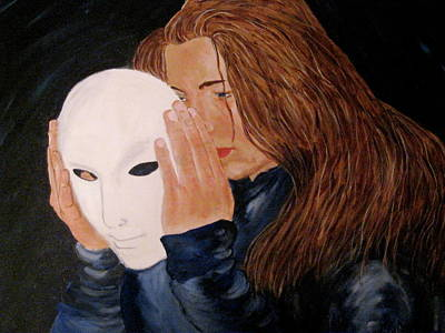 Art Print featuring the painting Masked by Rebecca Wood