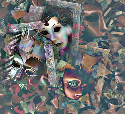Photograph - Masks In Mosaic by Nareeta Martin