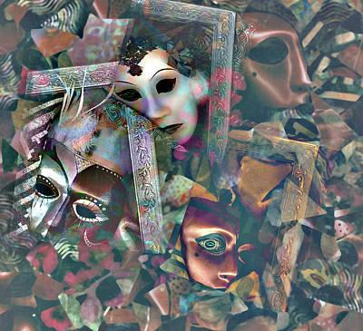 Photograph - Masks In Mosaic by Nareeta Martin
