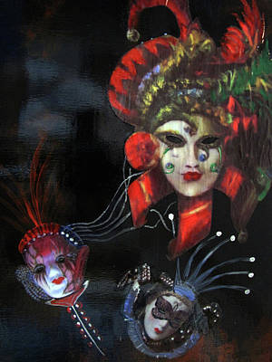 Painting - Masks Of Mardi Gras by Gary Smith