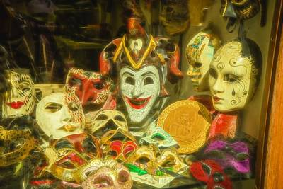 Photograph - Masks Of Venice by Denise Darby