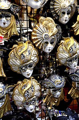 Photograph - Masks Of Venice by Richard Ortolano