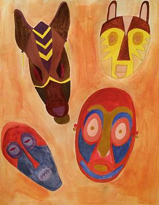 Painting - Masks by Samantha L