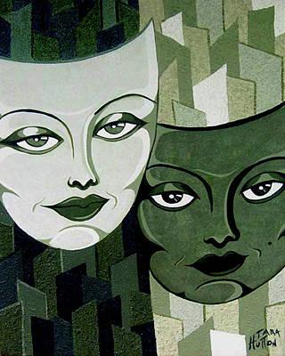 Masks Verde Art Print