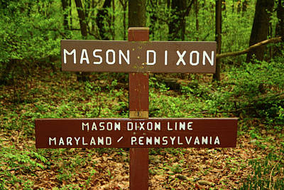 Photograph - Mason Dixon Pa And Md State Line by Raymond Salani III