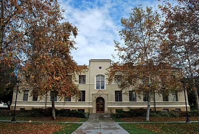 Photograph - Mason Hall - Pomona College - Autumn Trees by Matt Harang