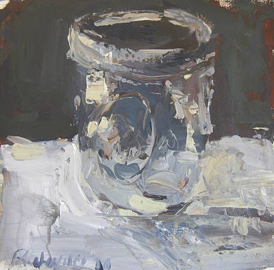 Art Print featuring the painting Mason Jar  by Robert Joyner