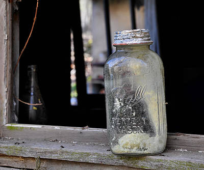 Mason Jar Art Print by Todd Hostetter
