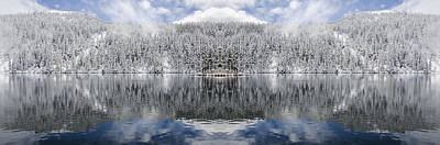 Fantasy Royalty-Free and Rights-Managed Images - Mason Lake Reflection by Pelo Blanco Photo