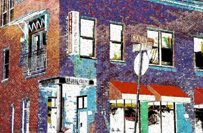 Mason Street And Cherry Art Print by Jeff Gibford