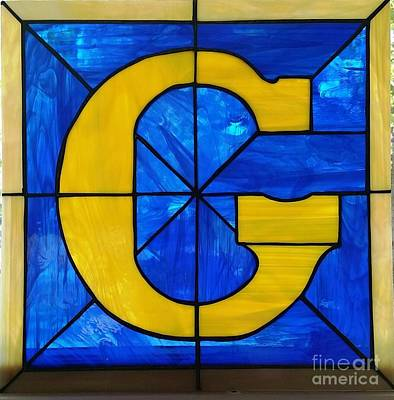 Glass Art - Masonic G - 2 by Liz Lowder