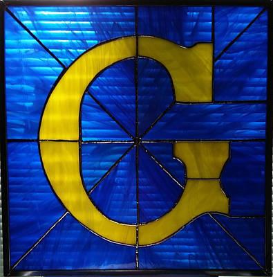 Glass Art - Masonic G by Liz Lowder
