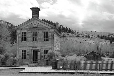 Photograph - Masonic Hall  Bannack by Whispering Peaks Photography