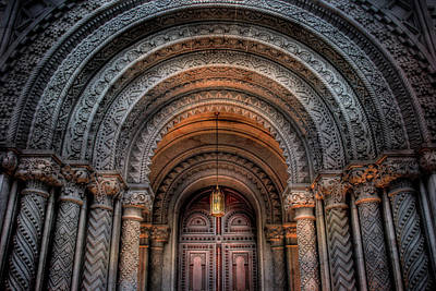 Photograph - Masonic Temple Entrance by Lori Deiter