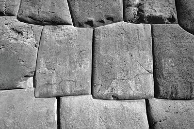 Photograph - Masonry At Saksaywaman, Peru by Aidan Moran