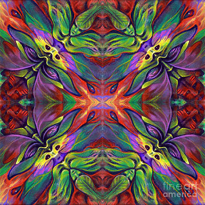 Kaleidoscope Painting - Masqparade Tapestry 7e by Ricardo Chavez-Mendez