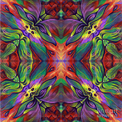 Kaleidoscope Painting - Masqparade Tapestry 7f by Ricardo Chavez-Mendez