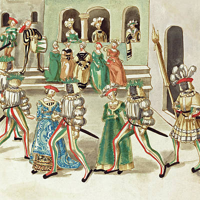 Painting -  Masquerade #3 by German 16th Century