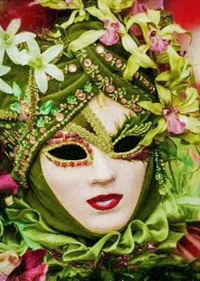 Digital Art - Masquerade 4 by Charmaine Zoe