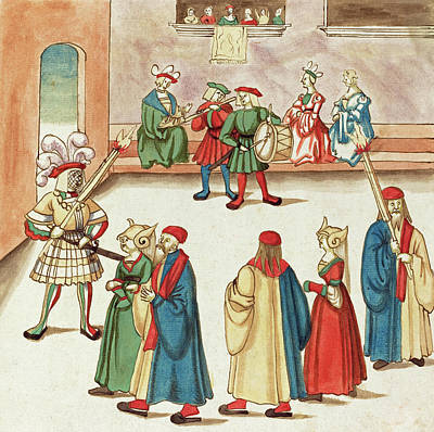 Painting -  Masquerade #4 by German 16th Century