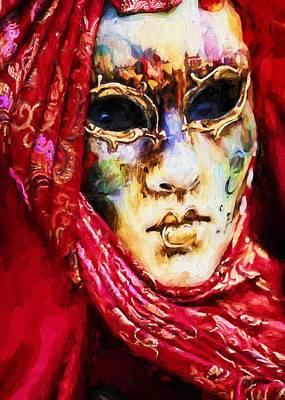 Digital Art - Masquerade 5 by Charmaine Zoe