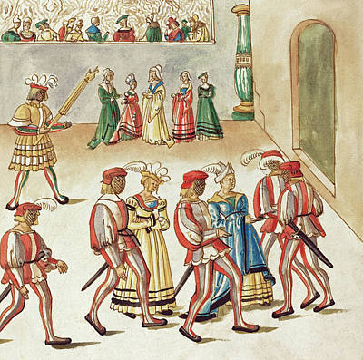 Painting -  Masquerade #7 by German 16th Century