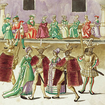 Painting -  Masquerade #8 by German 16th Century