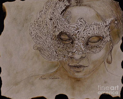 Venice Drawing - Masquerade by Portraits By NC