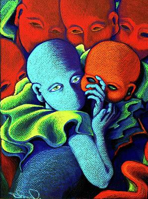 Painting - Masquerade Goes Green by Deborah jordan Sackett