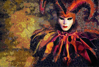 Mixed Media Royalty Free Images - Masquerade Royalty-Free Image by Jacky Gerritsen