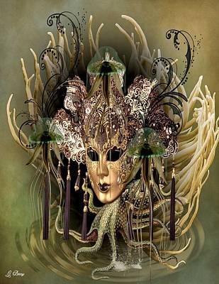 Masquerade Madness Art Print