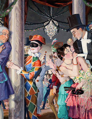 Somov Painting - Masquerade by MotionAge Designs