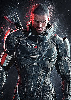Mass Effect Digital Art - Mass Effect by Taylan Apukovska