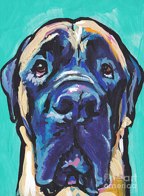 Mastiff Painting - Mass Mug Shot by Lea S