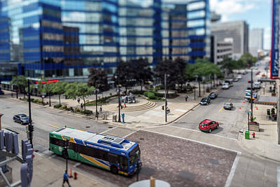 Photograph - Mass Transit In The Itty-bitty-city by Randy Scherkenbach