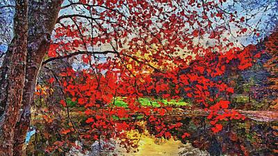 Painting - Massachusetts - Autumn Colors 01 by Andrea Mazzocchetti