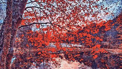 Painting - Massachusetts - Autumn Colors 02 by Andrea Mazzocchetti